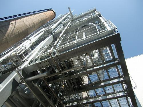 小規模工場建設 鉄骨6階建機器架台設計架台工事2