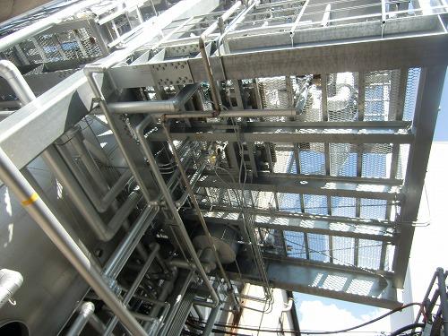 小規模工場建設 鉄骨6階建機器架台設計架台工事3